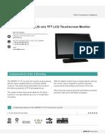 Datasheet Touchscreen-Monitor 19 WT0190TMB1 Low