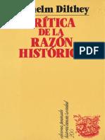 Dilthey, Wilhelm - Crítica de La Razón Histórica