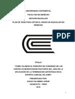 La Terminacion Anticipada Del Proceso Penal y La Vulneración Del Principio de Consenso de Las Partes
