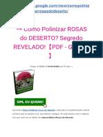 → MANUAL Belas ROSAS do DESERTO? Segredo REVELADO!【PDF - GRÁTIS】�