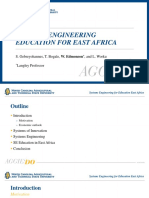 SYSTEMS ENGINEERING EDUCATION FOR EAST AFRICA