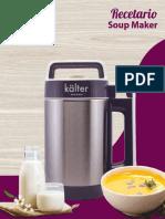 Recetario Soup Maker Kalter