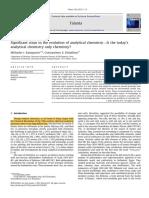 Pasos significativos en la evolución de la química analítica