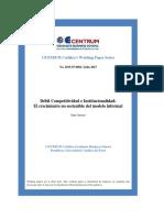 2015 ARROYO Debil Competitividad e Institucionalidad Working Paper2015!07!0004