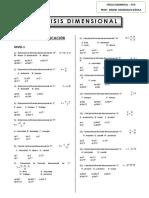 Ejercicios de Aplicación 5to Sec Analisis Dimensional
