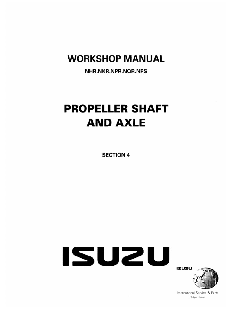 Isuzu_N-Series__Elf__Workshop_Manual_-_Section_4