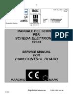 Angelantoni E2003 - Service Manual