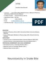 Simpo 11 Neurotoksikologi - Dr. Muhamad Rusdi B.pharm (Hons), Ph.D - Neurotoxicity in Snake Bite