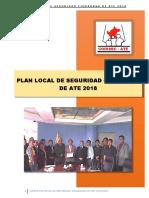 Plan Local Seguridad Ciudad an a 2018