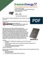 Kyocera Kd205gx Lp 205w 18v Solar Panel Pallet