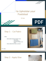 how to upholster your footstool  1