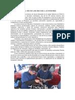 ART Sobre La Carrera Técnica de Mecánica Automotriz