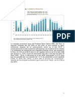 La Variación Porcentual Anual Del Producto Bruto Interno