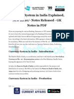 Currency System in India Explained New Rs.10 Notes Released GK Notes in PDF
