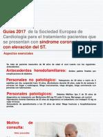 Síndrome coronario agudo con elevación del ST diagnóstico y tratamiento