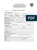 Arrest and Booking Form