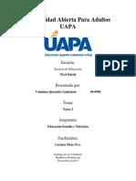 Educacion, Familia y Nutricion - Tarea 1