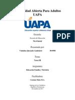 Educacion, Familia y Nutricion - Tarea III