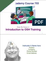 703 Intro Training