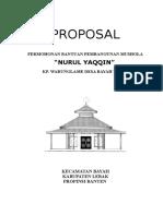 PROPOSAL Pembangunan Musholla Nurul Yaqqin 2009
