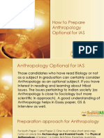 How to Prepare Anthropology Optional for IAS