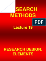 Research Methods - STA630 Power Point Slides Lecture 19