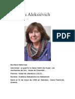 Biografía de Svetlana Aleksiévich