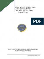 Kak Kontrak Jasa Konsultansi Pekerjaan Rkl Dan Rpl