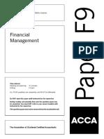 Pilot Paper ACCA F9