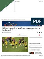 Bélgica conquista histórico tercer puesto en Rusia 2018 - La Jornada