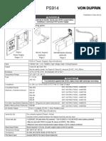 Von Duprin PS914 Power Supply Installation Instructions 106443