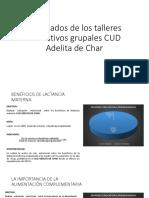 Resultados de Los Talleres Educativos Grupales CUD Adelita