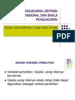 3. Metlid Pengukuran Variabel Dan Skala Pengukuran
