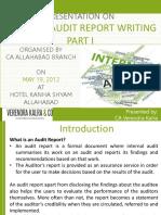 Vkc Website Internal Audit Report Writing Part 1
