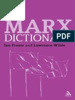 Marx, Karl_ Fraser, Ian_ Marx, Karl_ Wilde, Lawrence - Marx Dictionary
