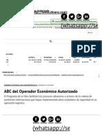 ABC Del Operador Económico Autorizado