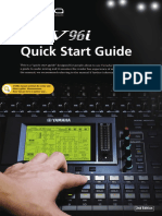 Yamaha 01V96i Quick Start Guide
