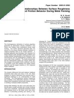 Friction Evaluation SAE2005
