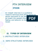 6. Indepth Interview