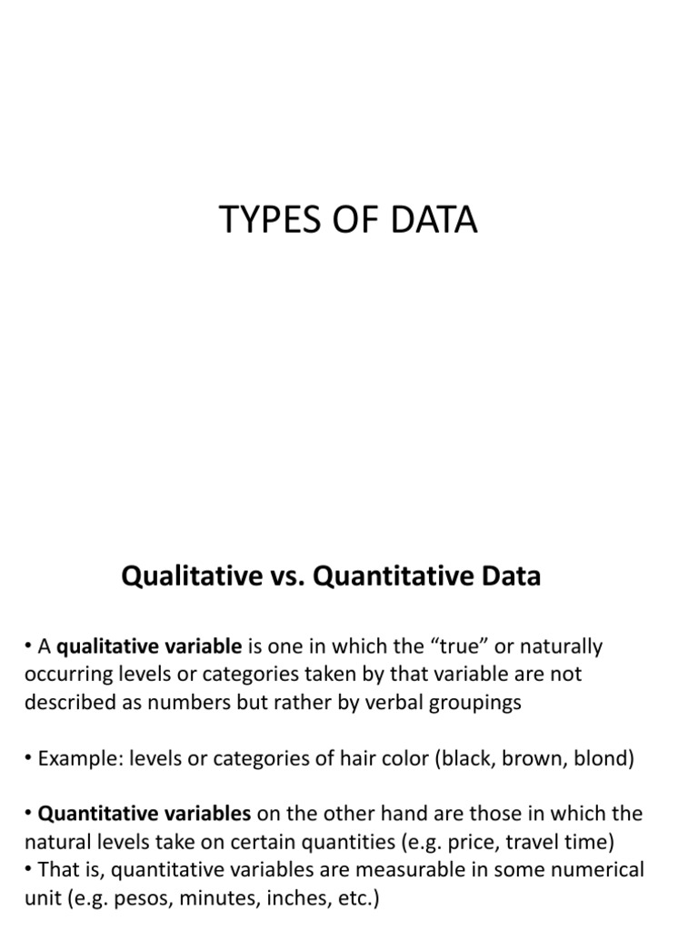 Types of Data | Level Of Measurement | Physics & Mathematics