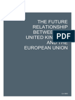 The Future Relationship Between the United Kingdom and the European Union