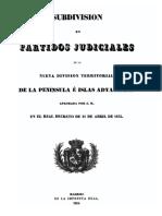 Subdivision en Partidos Judiciales de La Nueva Division Territorial de La Peninsula e Islas Adyacentes 0