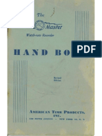 Watchmaster Recorder Handbook 1948