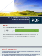 2.1.3- Scientific Understandings of Outdoor Environments- Part 1 Student
