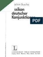 Lexikon deutscher Konjunktionen