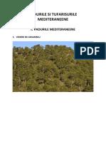 Padurile si tufarisurile mediteraneene 1 -compozitia floristica si faunistica