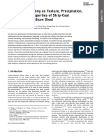 Effects by the Microstructure After Hot and Cold Rolling on the Texture and Grain Size After Final Annealing of Ferritic Non-Oriented FeSi Electrical Steel