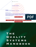 CB 024-2001 the Quality Systems Handbook