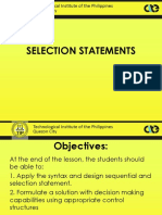 Selection Statements