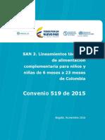 Lineamientos Alimentación Complementaria Colombia 2015